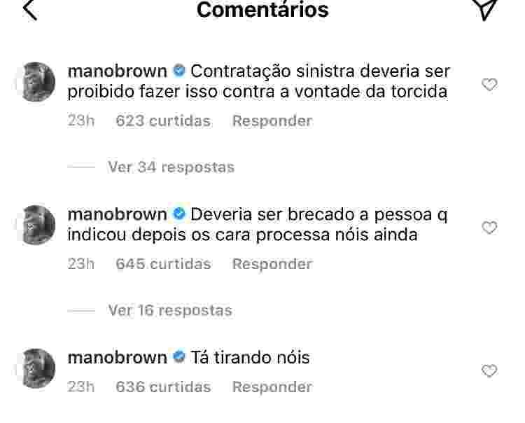 Mano Brown comenta contratação do Santos - Instagram - Instagram