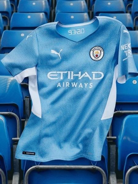 Manchester City apresentou nova camisa para a temporada 2021-22 - Divulgação