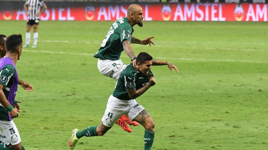 Dudu comemora gol do Palmeiras contra o Atlético-MG na Libertadores - GUSTAVO RABELO/PHOTOPRESS/ESTADÃO CONTEÚDO