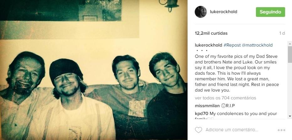 Luke Rockhold compartilhou imagem da família após o falecimento de seu pai