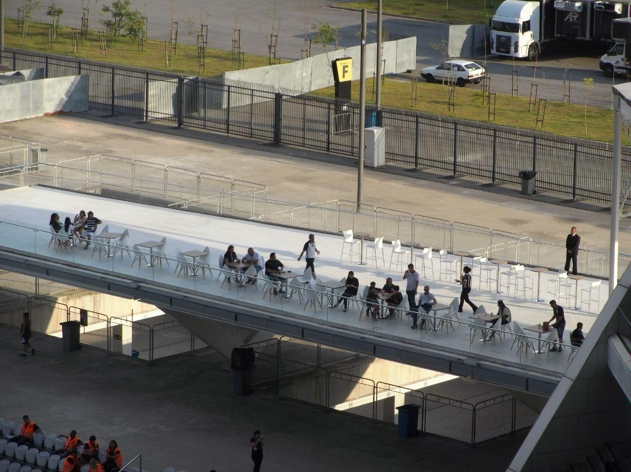 Setores vips da Arena Corinthians antes de Corinthians x Fluminense