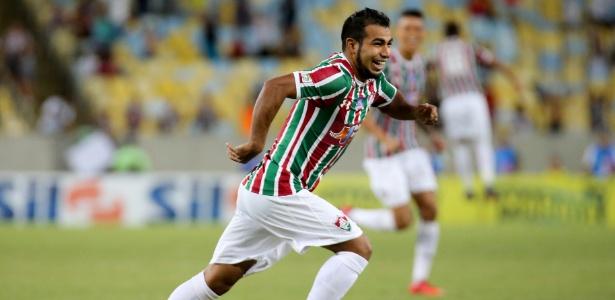 Sornoza comemora após marcar pelo Fluminense sobre o Vasco no Carioca - Lucas Mercon/Flumimense FC