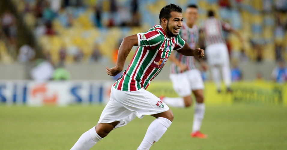 Sornoza comemora gol do Fluminense contra o Vasco pelo Campeonato Carioca