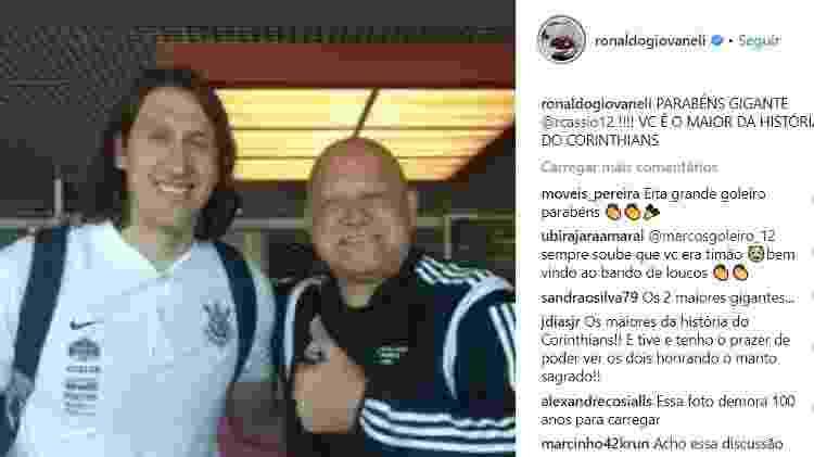 Ronaldo manda mensagem para Cássio - Reprodução/Instagram - Reprodução/Instagram