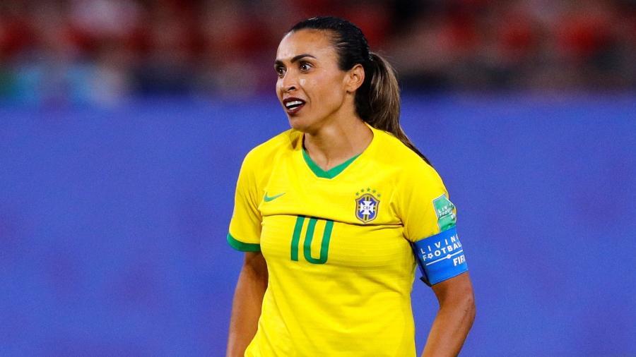 Marta, durante partida entre Brasil e Itália - REUTERS/Phil Noble