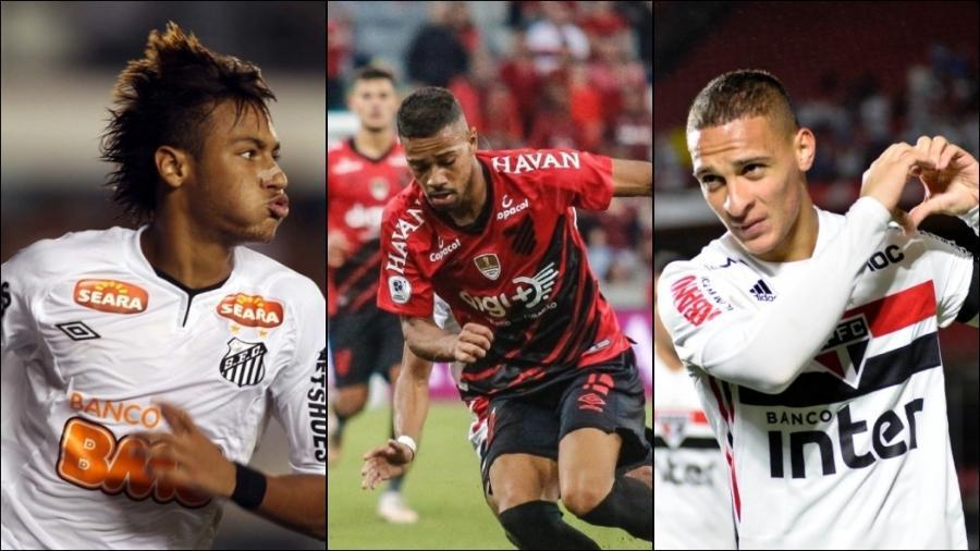 Santos, Athletico-PR ou São Paulo: qual é o clube brasileiro que mais revela jogadores para a Champions? - Montagem