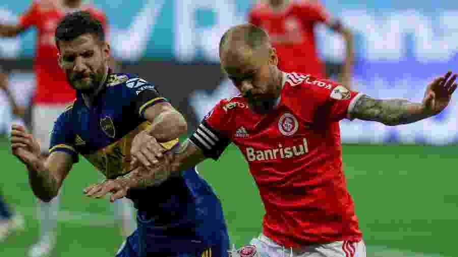 """O Inter de D""""Alessandro perdeu para o Boca Juniors por 1 a 0 no Beira-Rio - Fernando Alves/AGIF"""