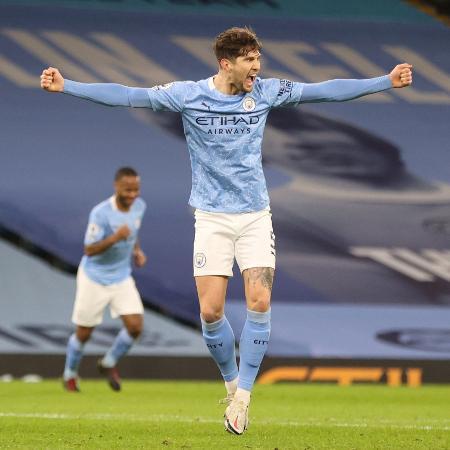 Stones comemora gol do Manchester City contra o Crystal Palace -  REUTERS/Clive Brunskill