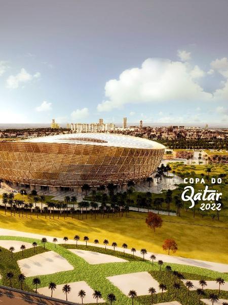 Estádio Lusail, no Qatar, que pode ter jogos da Copa Intercontinental a partir de 2023 - Divulgação/Fifa