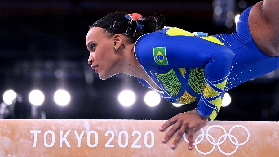 29.jul.2021 - A atleta brasileira Rebeca Andrade conquista a medalha de prata na ginástica - Dylan Martinez/Reuters