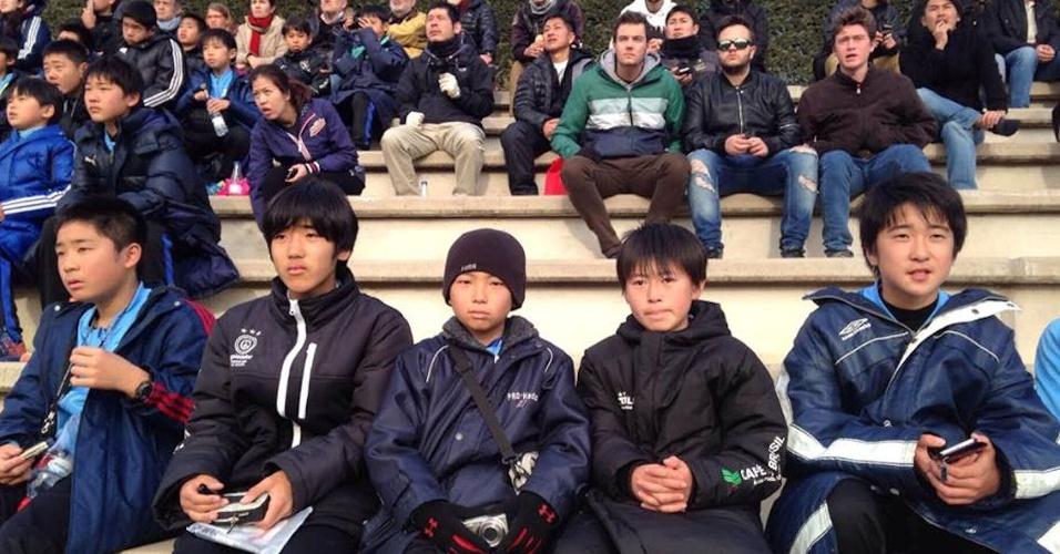 Por volta de 100 coreanos foram ao Barça para ver o jogo contra o Zaragoza pelo Juvenil A