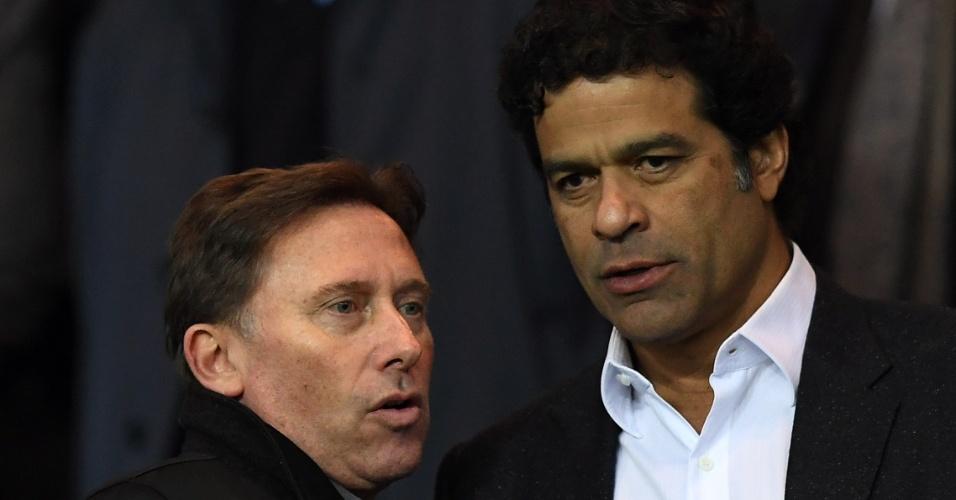O ex-jogador Raí, que fez história com a camisa do Paris St-Germain, compareceu ao Parc des Princes para assistir ao jogo entre o clube francês e o Manchester City