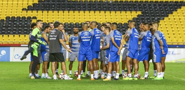 Jogadores ouviram explicações sobre nova ferramenta que estreia na Libertadores - Lucas Uebel/Grêmio