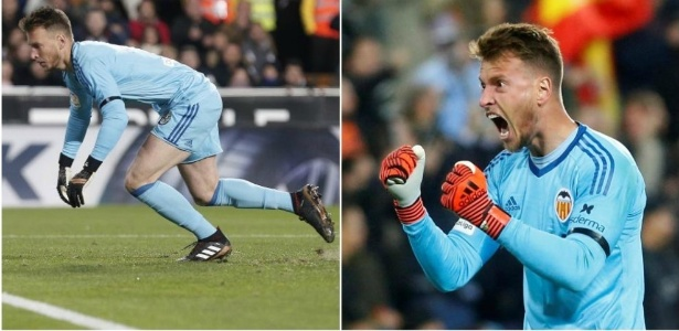"Neto usou luvas diferentes nos dois tempos de Valencia x Barcelona, segundo o ""Marca"""