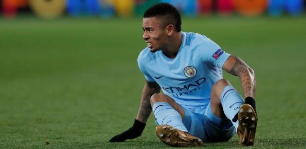 O brasileiro Gabriel Jesus desperdiçou um pênalti na goleada do Manchester City
