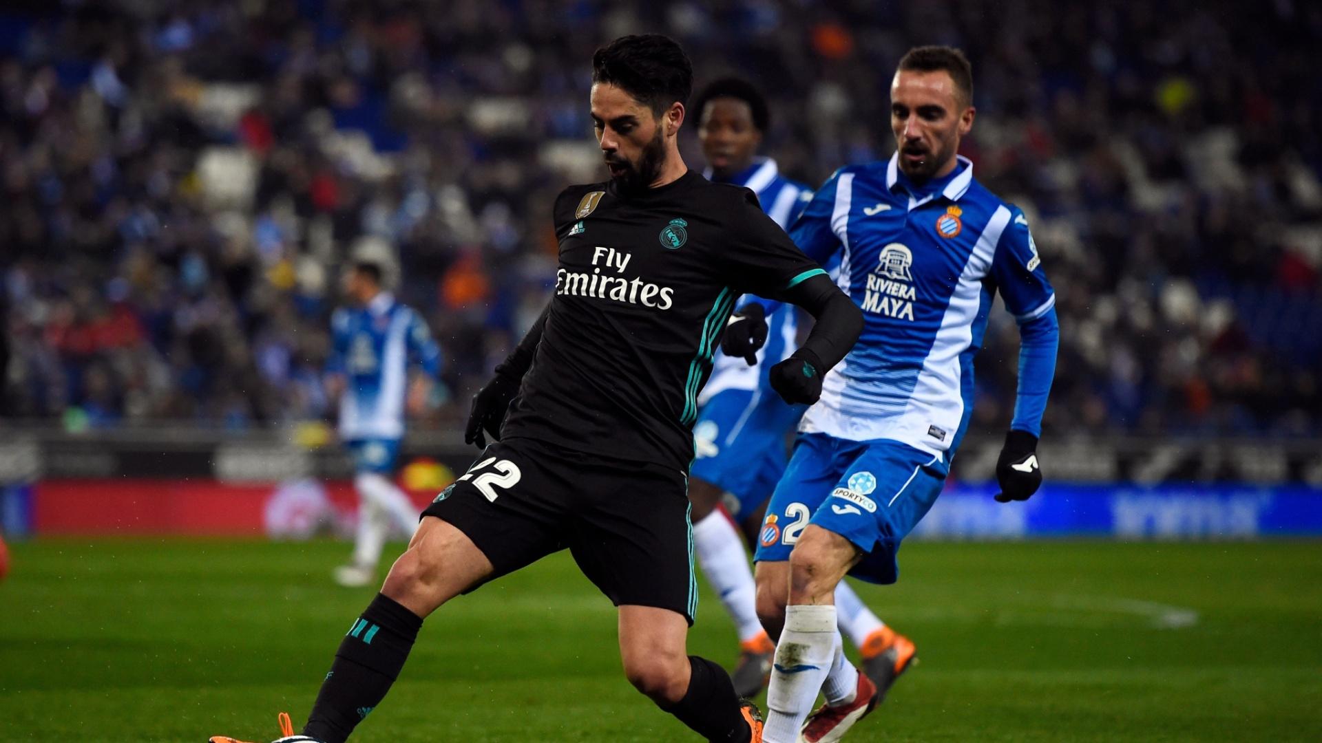 Isco em ação pelo Real Madrid contra o time do Espanyol