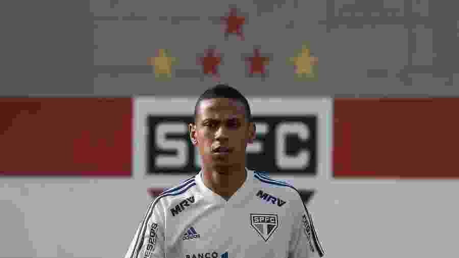 Bruno Alves durante treino do São Paulo - Marcello Zambrana/AGIF