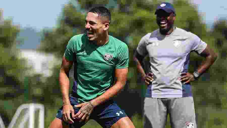Gilberto está perto de completar 100 jogos com a camisa do Fluminense - Lucas Merçon / Fluminense
