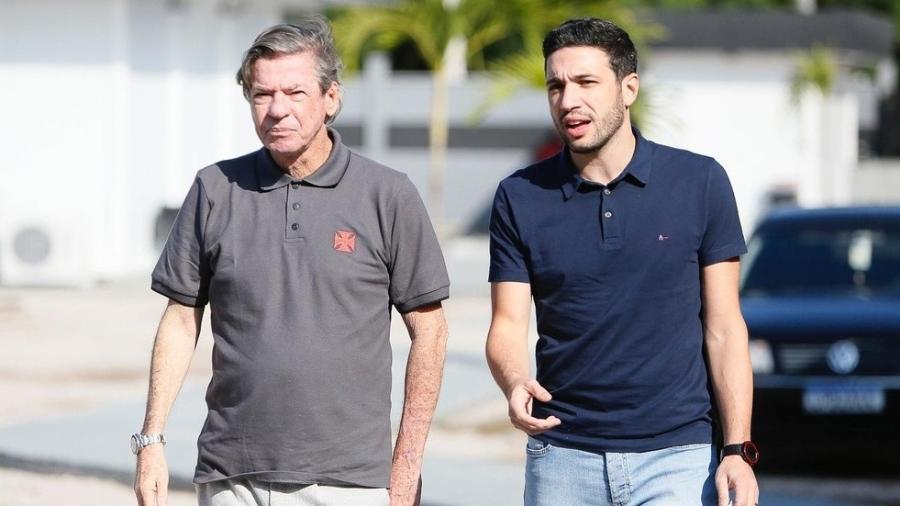 Jorge Salgado, presidente do Vasco, e Alexandre Pássaro, diretor executivo de Futebol - Rafael Ribeiro/Vasco