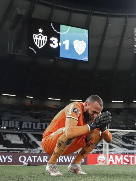 Everson comemora após classificação do Atlético-MG - Divulgação