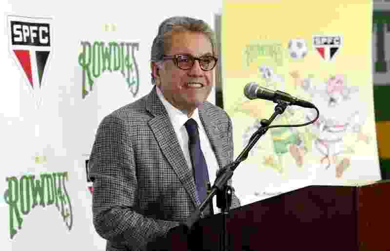 Carlos Miguel Aidar, presidente do São Paulo - Matt May/Tampa Bay Rowdies/Divulgação
