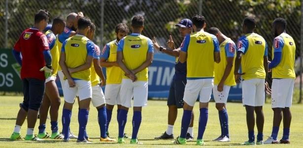 Imprensa não conseguiu ver muita coisa nos poucos minutos de treino aberto da semana - Washington Alves/Light Press/Cruzeiro