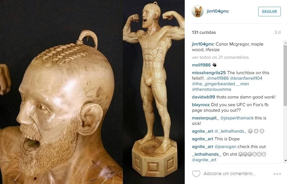 Artista norte-americano fez uma estátua de Conor McGregor