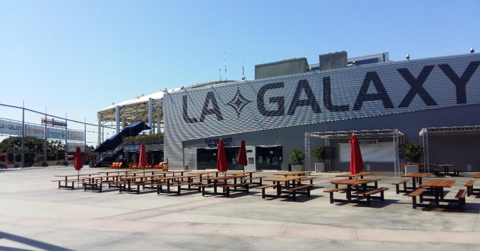 Espaço externo do estádio do LA Galaxy