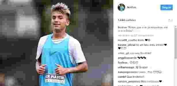 Lucas Lourenço em ação durante jogo do Santos - Reprodução/Instagram