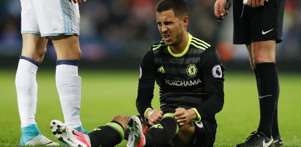 Hazard, do Chelsea, sofreu lesão durante treino da seleção belga