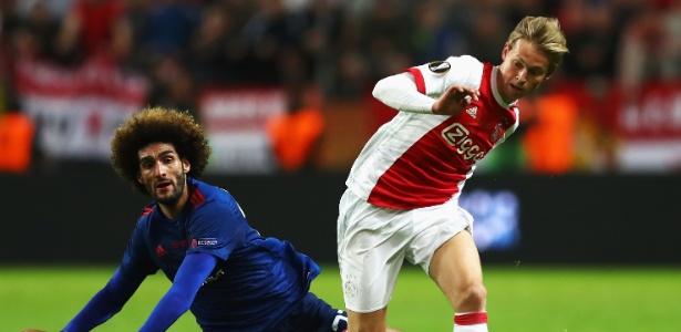 Frenkie de Jong em ação pelo Ajax na final da Liga Europa de 2017  - Dean Mouhtaropoulos/Getty Images