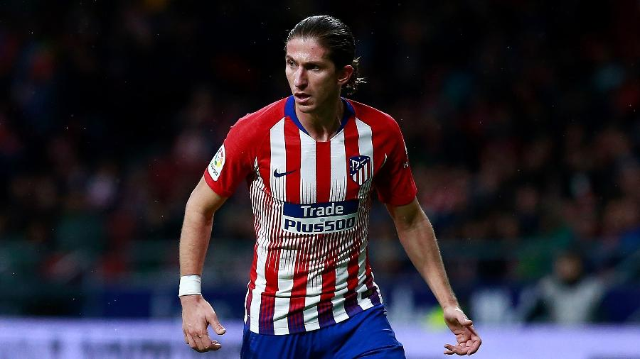 Filipe Luis com a camisa do Atlético de Madri - Gonzalo Arroyo Moreno/Getty Images