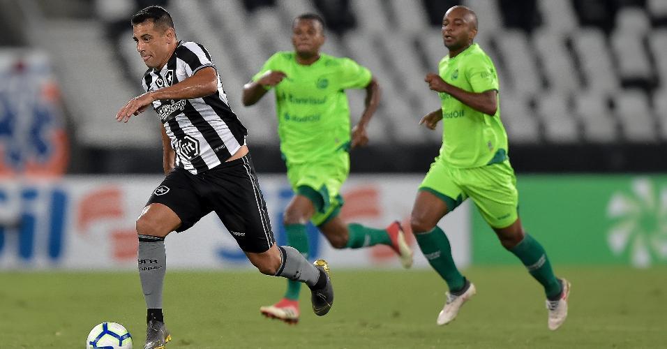 Diego Souza, durante partida entre Botafogo e Juventude