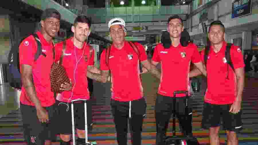 Jogadores do Deportivo Lara (VEN) iniciam viagem ao Brasil para enfrentar o Corinthians pela Copa Sul-Americana - Divulgação