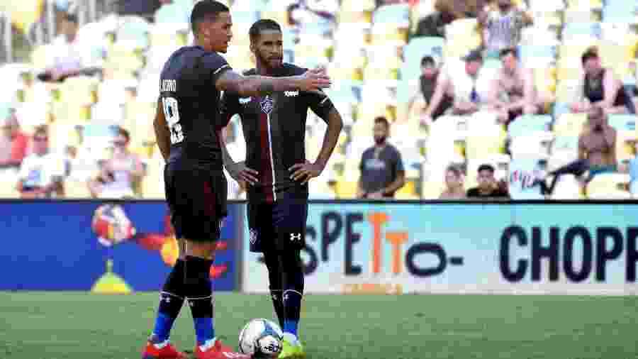 Everaldo (dir) está no Corinthians e Luciano (esq) pediu para não completar o sétimo jogo pelo Fluminense - MAILSON SANTANA/FLUMINENSE FC