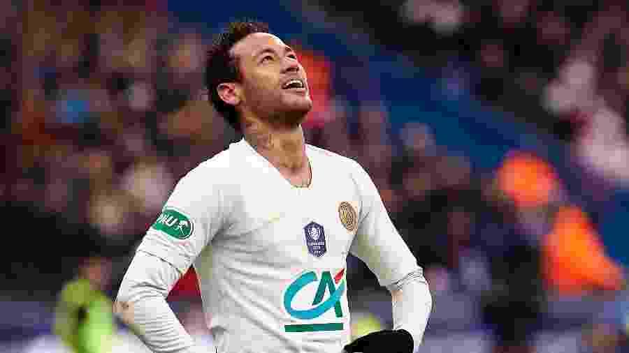 Neymar, em PSG e Rennes, pela Copa da França - Quality Sport Images/Getty Images
