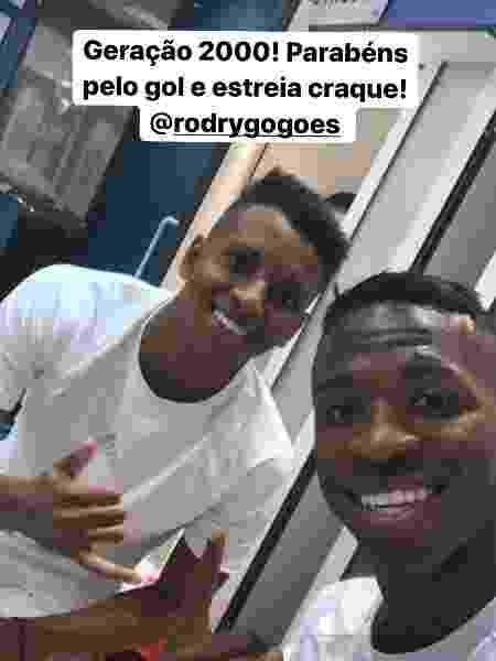 Rodrygo e Vinicius Junior comemora gols pelo Real Madrid - Reprodução/Instagram
