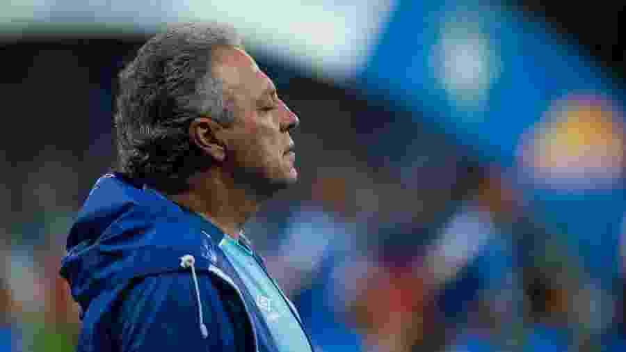 Abel Braga, técnico do Cruzeiro, preferiu não conceder entrevista após a derrota para o CSA - Bruno Haddad/Cruzeiro