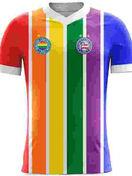 """Projeto de camisa da torcida """"LGBTricolor"""" - divulgação"""
