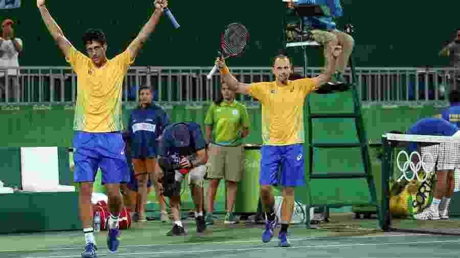 Bruno Soares (dir.) e Marcelo Melo nos Jogos Olímpicos Rio 2016 - Divulgação/Cristiano Andujar