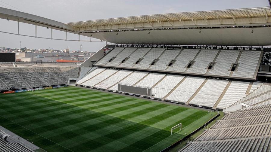 NeoQuímica Arena, antes de Corinthians x Santos - Divulgação/Corinthians