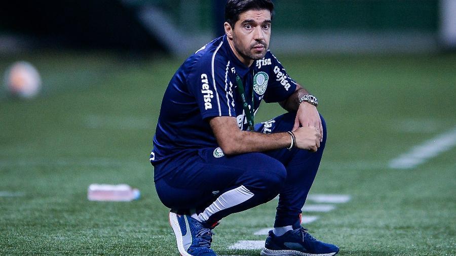 Abel Ferreira, durante a goleada do Palmeiras sobre o Delfín - Staff Images / CONMEBOL