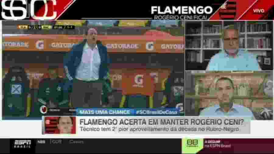 Sormani defede demissão de Rogério Ceni e alerta Flamengo sobre Brasileiro - Reprodução/ESPN
