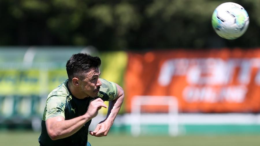 Willian Bigode, atacante do Palmeiras, durante treino na Academia de Futebol - Fabio Menotti/Palmeiras