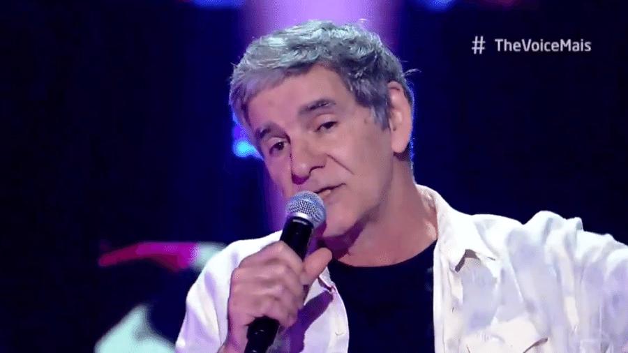 João Canalha no The Voice+ deste domingo (27) - Reprodução TV Globo