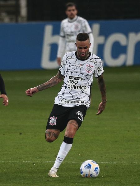 Luan em ação durante partida entre Corinthians e RB Bragantino, pelo Brasileirão 2021. - Ettore Chiereguini/AGIF