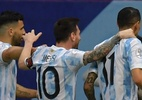Argentina marca cedo, vence o Paraguai e lidera grupo na Copa América - Pedro Vilela/Getty Images