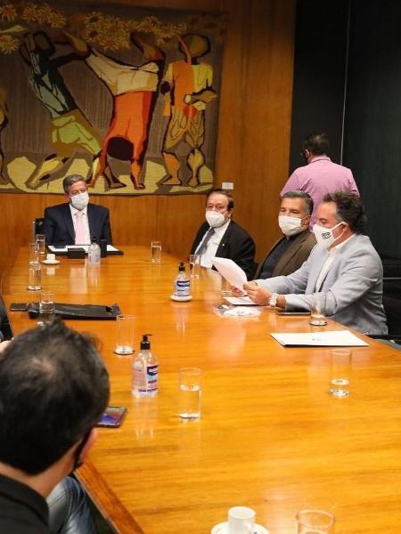 Presidente da Câmara, Arthur Lira (PP-AL) recebe dirigentes de clubes - Reprodução/Instagram