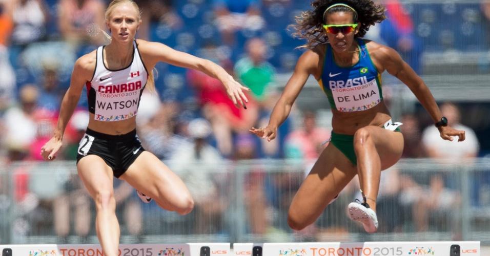 Jailma de Lima corre no 400m com barreira. Brasileira terminou na sétima colocação e não se classificou