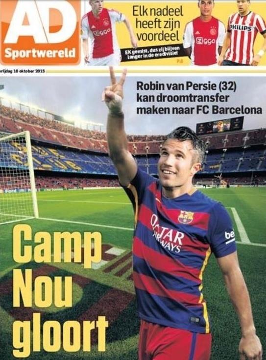 Van Persie pode fechar com o Barcelona